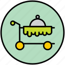 food, hotel, meal, restaurant, room service, roomservice, service icon