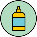 balsam, cosmetic, hygiene, liquid soap, lotion, shampoo icon