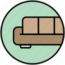 apartment, couch, lie in, living room, sofa icon