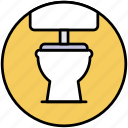 sanitary, sanitation, toilet bowl, wc icon
