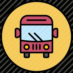 autobus, bus, city transport, public transport, transport, travelers icon