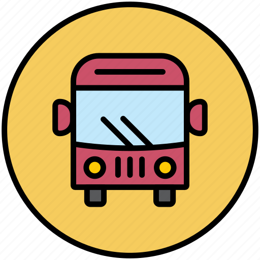 autobus, bus, city transport, public transport, transport, travelers icon