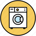 clothes, home appliance, wash, washing, washing machine, washmachine icon