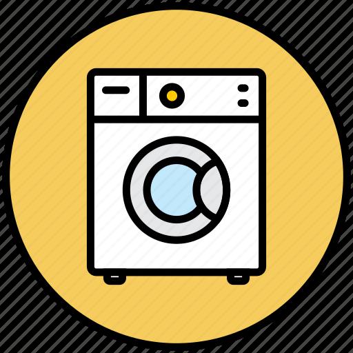 clothes, home appliance, wash, washing, washing machine, washmachine icon