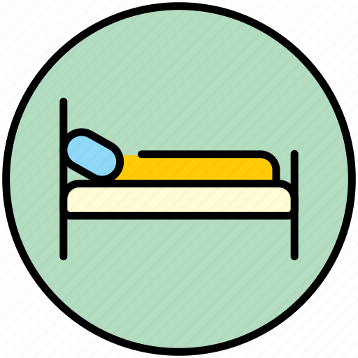 bed, bedroom, furniture, hostel, hotel, motel, sleep icon