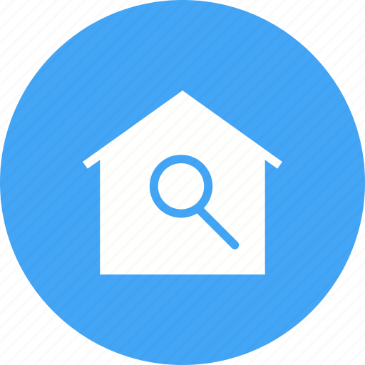 estate, home, house, real, residential, sale, search icon