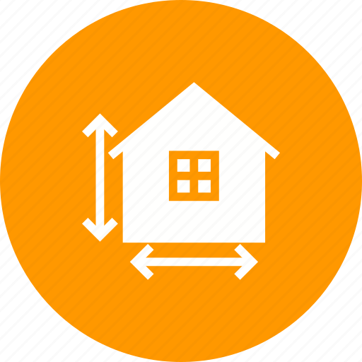 building, construction, home, house, measure, measuring, tape icon