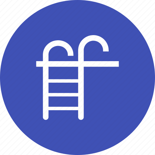 blue, hotel, ladder, pool, summer, swimming, water icon