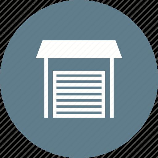 building, car, door, garage, house, open, parking icon