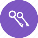 business, door, house, key, keys, lock, unlock icon