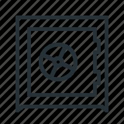 balance, bank, money, safe icon