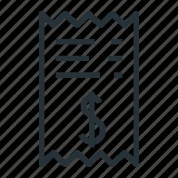 billing, details, information, receipt icon