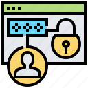 account, password, privacy, protection, security icon