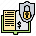 accounting, banking, book, security, trust icon