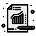 analytics, chart, metrics, report icon