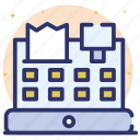 cash till, invoice, point of services, pos, pos terminal icon