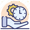 effective planning, efficiency, productivity, time management, time optimization icon