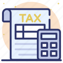 accounting, auditing, calculation, financial estimate, tax calculation, tax report icon