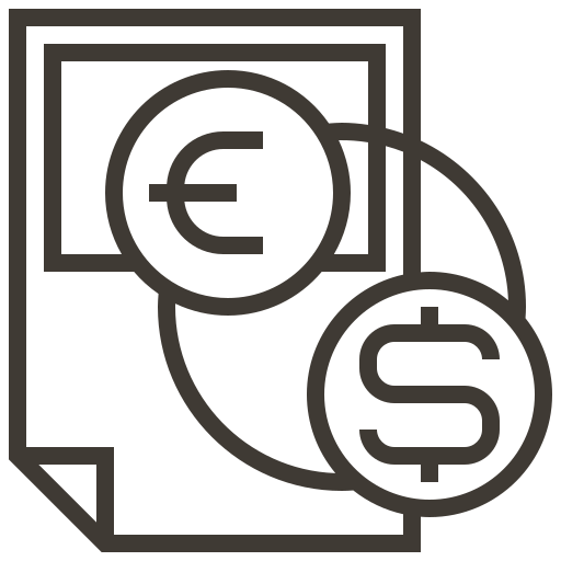 accounting, cash, currency, dollar, exchange, finance, money icon