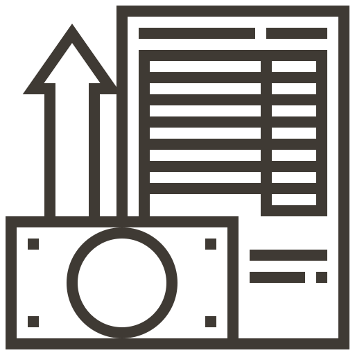 accounting, business, cash, finance, money, report, tax icon