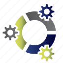 accounting, analytics, calculate, cash, diagram icon