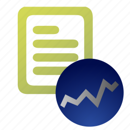 accounting, document, find, report, search, statistics, stats icon