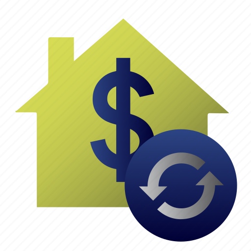 accounting, cash, currency, dollar, home, office, value icon