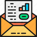 accounting, business, communication, document, envelope, letter, line icon