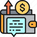 accounting, growth, income, money, profit, revenue, wallet icon