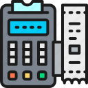 accounting, machine, payment, pos, printed, receipt, terminal icon
