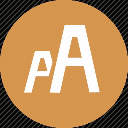 font, font family, size, sizes icon