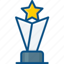 award, prize, star trophy, trophy, winning cup icon icon