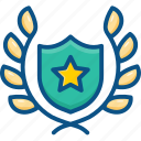 badge, emblem, ensign, insignia, winner shield icon icon