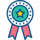 award, badge, madel, medal, prize, star, winner icon icon
