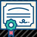 certificate, contract, degree, diploma, patent icon icon