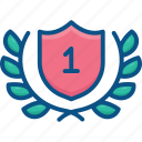 badge, first, logo, number, one, place, winner icon icon