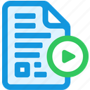 continue, document, sync icon