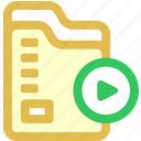 continue, folder, sync icon