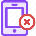 delete, from, mobile icon
