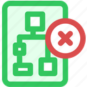 delete, from, network icon