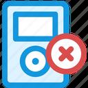 delete, music icon