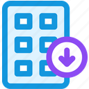 collection, download icon