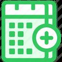 calendar, duplicate icon