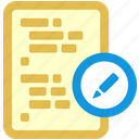 code, edit icon