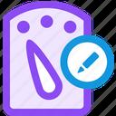 dashboard, edit icon