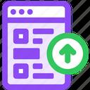 bookmarks, upload icon