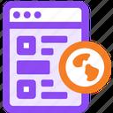 bookmark, link, web icon
