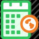 calendar, link, web icon