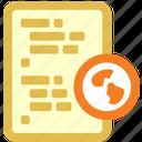 code, link, web icon
