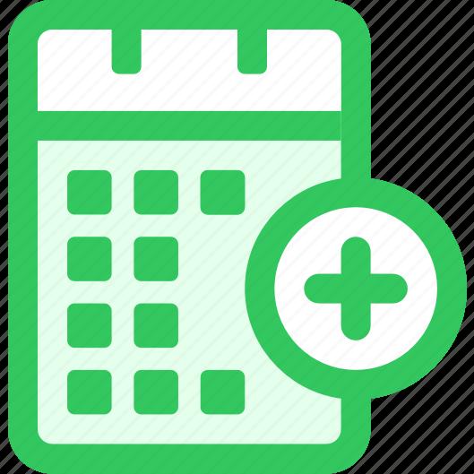 add, calendar, to icon